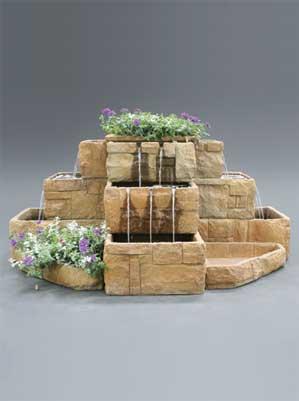 Stone Courtyard Cascade Fountain