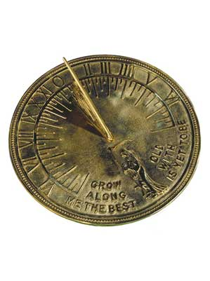 Father Time Polished Brass Sundial
