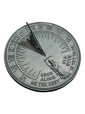 Father Time Cast Iron Sundial