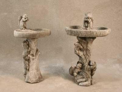 Squirrel Bird Baths
