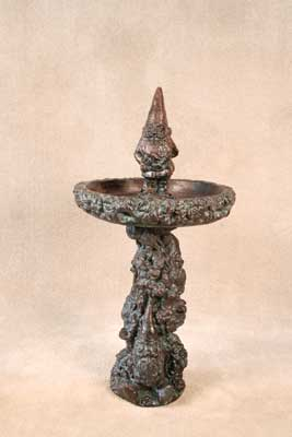 Gnome Birdbath