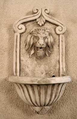 Scroll Lion Wall Fountain