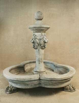 3 Lion Pool Fountain
