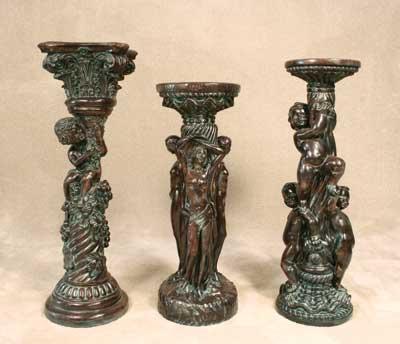 Vineyard Column, Three Graces Column, and Three Cupids Column