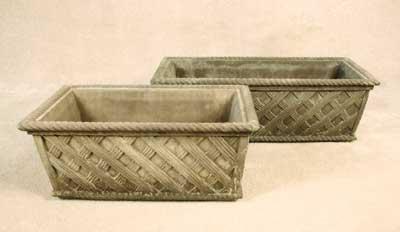Basketweave Planter Boxes