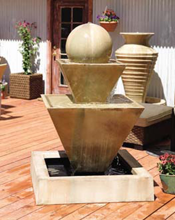 Double Oblique Fountain with Orb