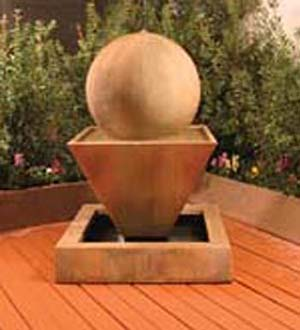 Oblique Fountain with Ball