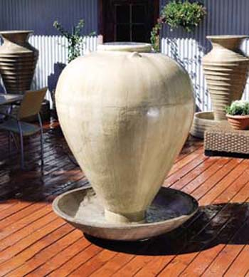 Large Vase with Wok Fountain